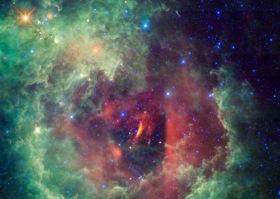 Rosette nebula in the Unicorn constellation