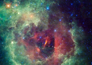 Rosette nebula in the Unicorn constellation